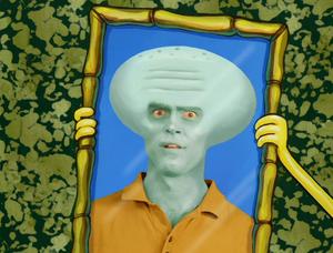 Squidward handsome realistic