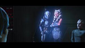 Ahsoka and Bo-Katan hologram
