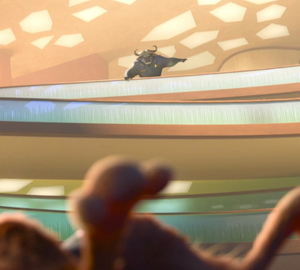 Chief Bogo sending Judy to his office