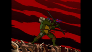 Donatello detaches the Time Scepter now