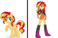 Sunset Shimmer pony and human