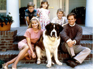 George with his family & Beethoven