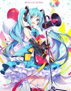 Yande.re 672311 hatsune miku headphones magical mirai peneko thighhighs vocaloid