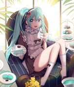 Yande.re 696180 hatsune miku himing maid skirt lift vocaloid