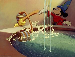 Mickey Mouse's Cleaning Spell