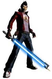 Travis Touchdown from No More Heroes series