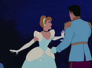 Cinderella says good bye to Prince Charming