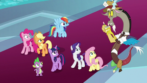 Discord appears as a news reporter S9E1