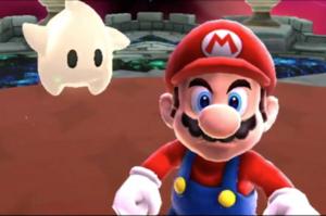 Mario facing Bowser