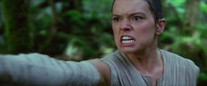 Rey fires Stormtroopers