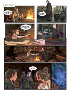 The-Last-Jedi-Graphic-Novel-Adaptation - Rey and Kylo touch hands