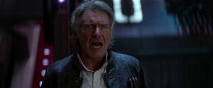 Han calls his son