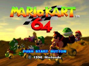 Mario Kart 64 title screen 2