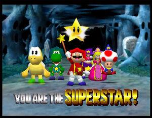 Mario party 2 mario yoshi peach wario koopa tropa and toad in Horror Land