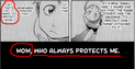 Ichigo say his mother protects him