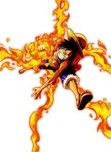 Luffy red hawk render by artofarcher-d5pwdhd