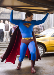 Superman catches the Daily Planet sphere