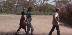 Ted, Susan and Morogo at Abdullah's camp