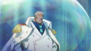 Garp appearance in Wano Country