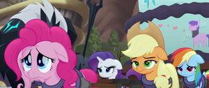 Pinkie making a sad face