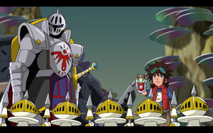 Mikey, Knightmon and PawnChessmon (S1E25)