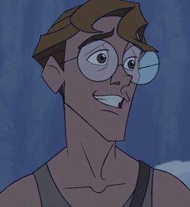 Milo Thatch grinning proudly