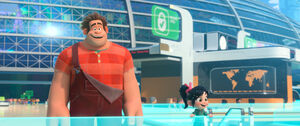 Ralph and vanellope seeing the internet