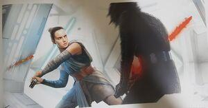Rey in Kylo's Sanctuary art 2