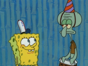 Squidward With Spongebob's Pants