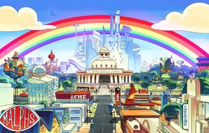 CN City Rainbow Background