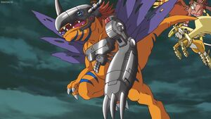 MetalGreymon, Pegasusumon and Garudamon