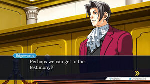 Miles Edgeworth in the first Ace Attorney