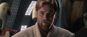 Obi-Wan Kenobi facing General Grievous