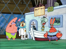 Sandy, Patrick (except Squidward) and Mr. Krabs guilty