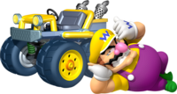 Wario in Mario Kart 7