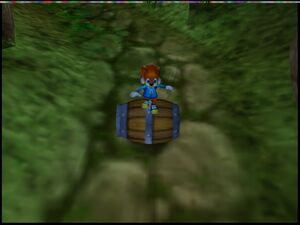 Conker's Bad Fur Day conker in the barrel