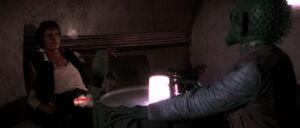 Han Solo fighting Greedo