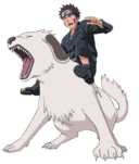 Kiba and akamaru render by xuzumaki-d508nzf