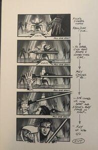 Kylo kills snoke storyboard