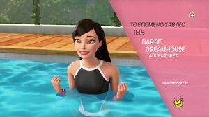 Renee Honda in Greek Barbie ad