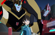 Russell with Sideswipe and Bumblebee