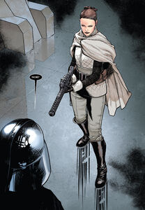 Sabé meets Darth Vader