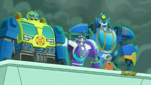 Woodrow, Blurr, Salvage and High Tide