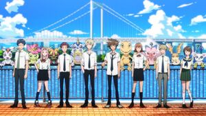 8 Digidestined & Digimons - Boku ni Totte