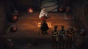 Kaede tells Kohaku & Hisui about Towa & Setsuna