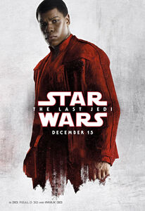 TLJ Finn White and Red Poster