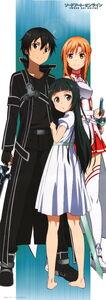 Yande.re 250873 asuna (sword art online) kirito stick poster sword sword art online thighhighs yui (sword art online)