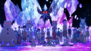 DigiDestinds and Digimon being controlled
