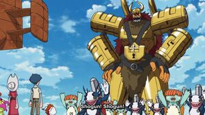 Joe and Mimi are with Olegmon's crew (Shogun!)