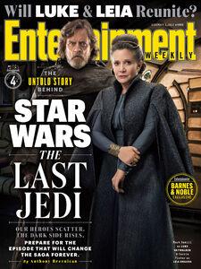 The Last Jedi - Luke and Leia - EW Cover